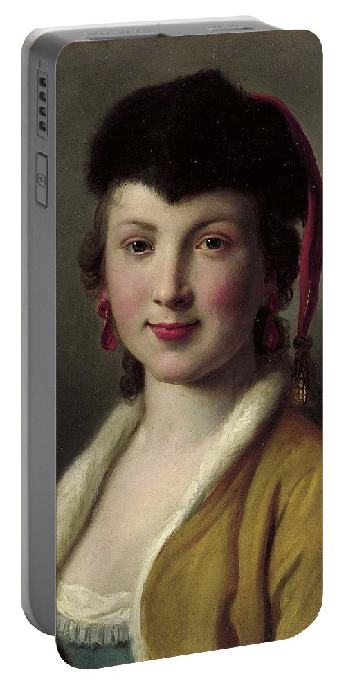 Pietro Antonio Rotari (italian. 1707-1762) Portable Battery Charger featuring the painting Lady by MotionAge Designs