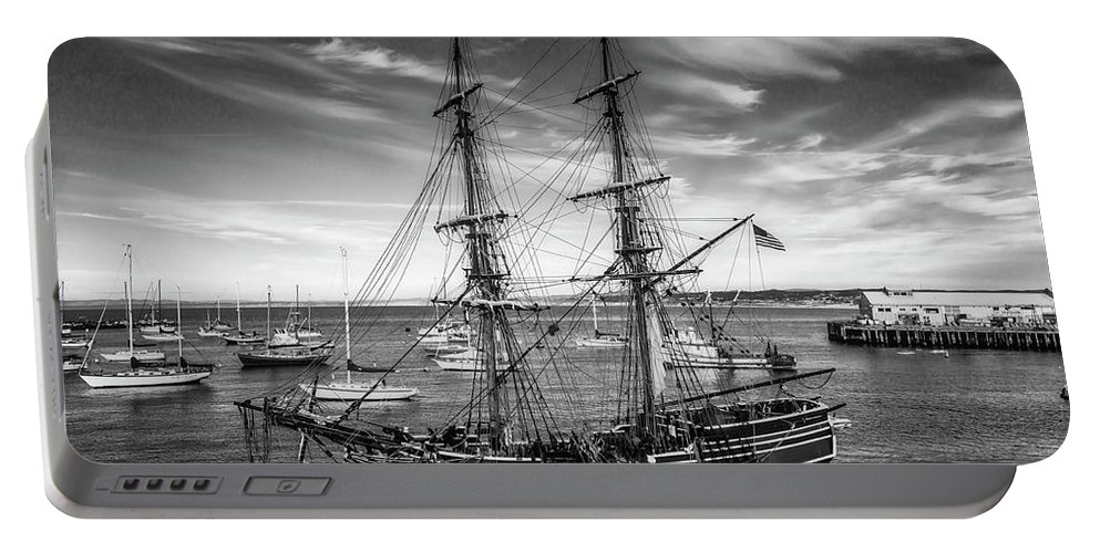 American Portable Battery Charger featuring the photograph Lady Washington In Black And White by Garry Gay