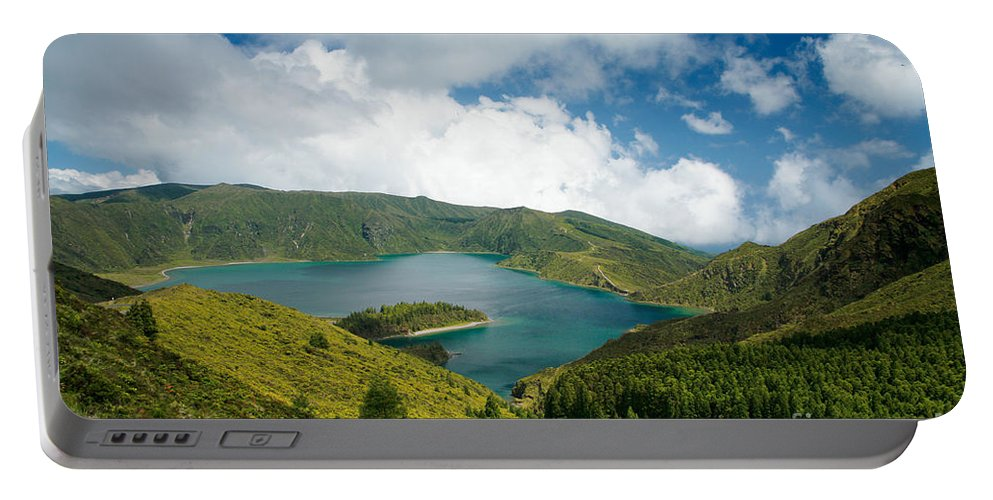 Lagoa Do Fogo Portable Battery Charger featuring the photograph Lagoa Do Fogo by Gaspar Avila