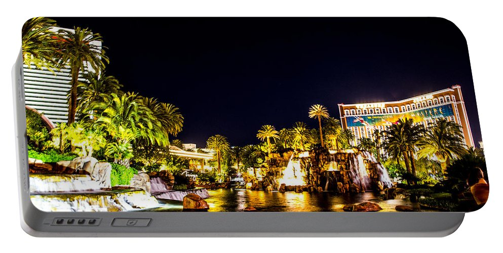 Las Vegas Portable Battery Charger featuring the photograph Lagoon by Angus Hooper Iii