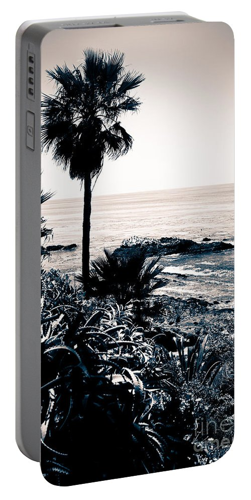 America Portable Battery Charger featuring the photograph Laguna Beach California Black And White by Paul Velgos