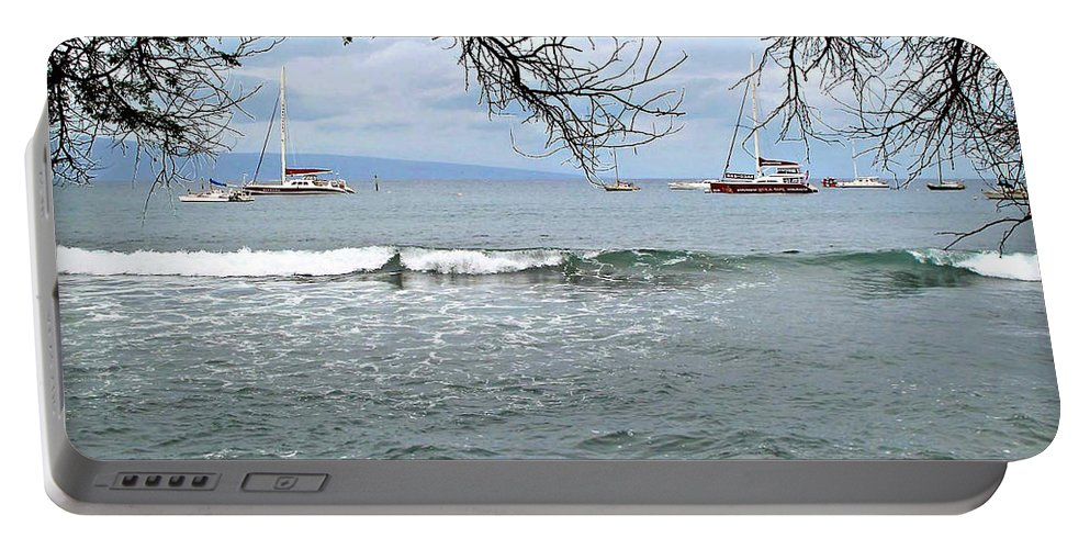 Lahaina Portable Battery Charger featuring the photograph Lahaina Beach by Joan Minchak