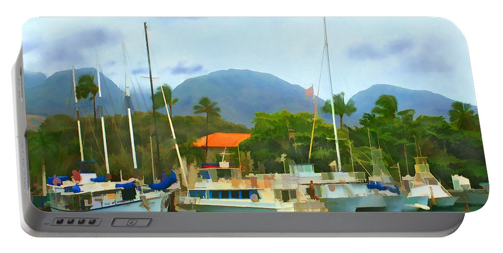 Lahina Portable Battery Charger featuring the photograph Lahina Harbor by Kurt Van Wagner
