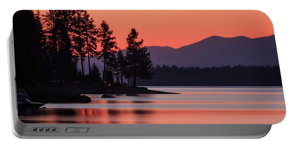 Landscape Portable Battery Charger featuring the photograph Lake Almanor Twilight by James Eddy