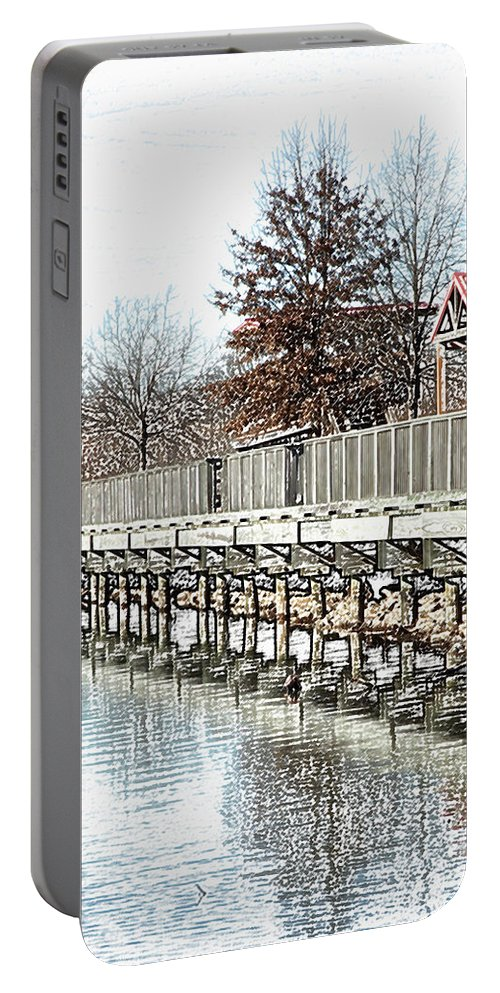Lakes Portable Battery Charger featuring the photograph Lake by Amanda Barcon