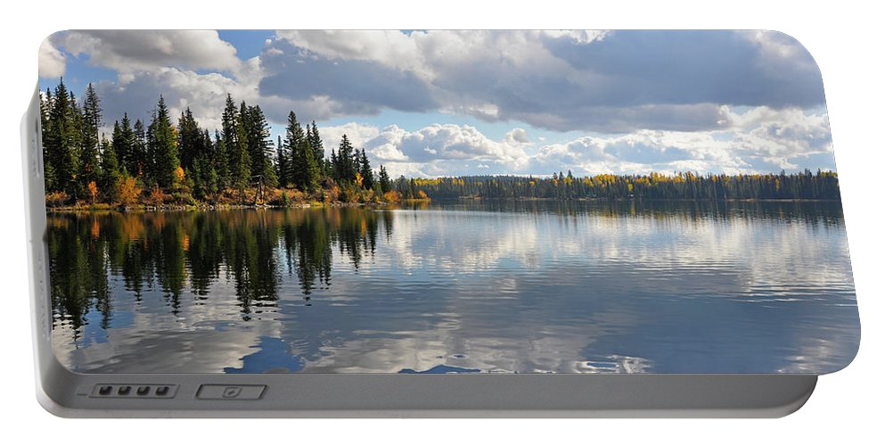 Lake Portable Battery Charger featuring the photograph Lake And Clouds by Perl Photography
