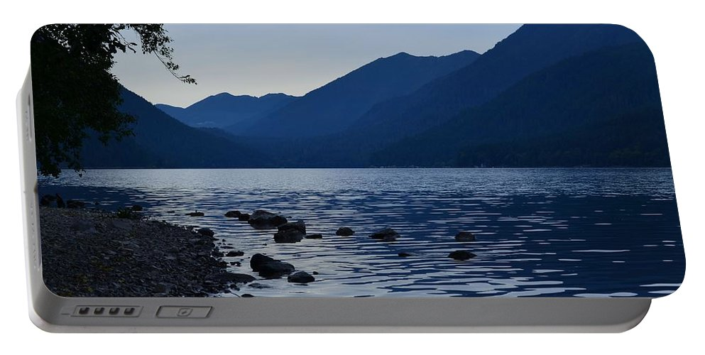 Lake Crescent Portable Battery Charger featuring the photograph Lake Crescent by Barbara Matthews