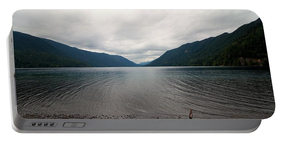Travel Portable Battery Charger featuring the photograph Lake Crescent Four by Nicholas Miller