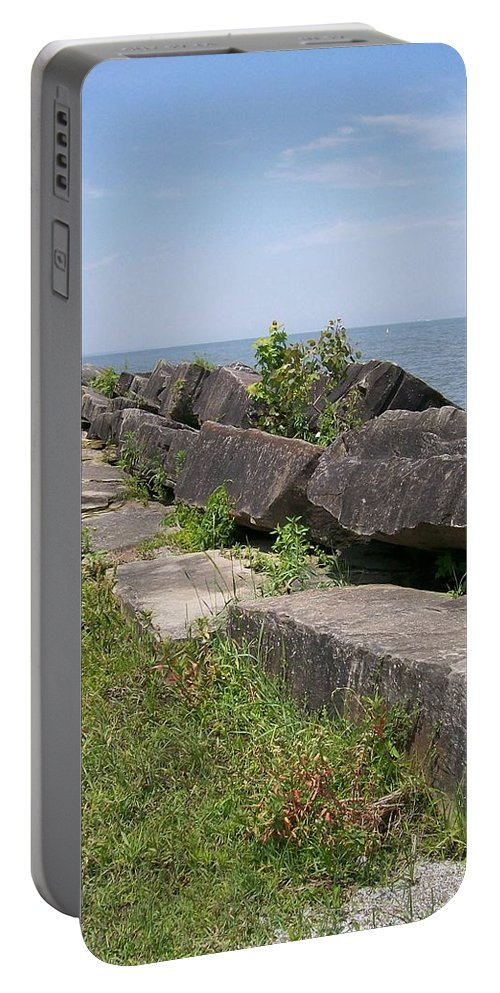 Lake Portable Battery Charger featuring the photograph Lake Front Park by Sara Raber