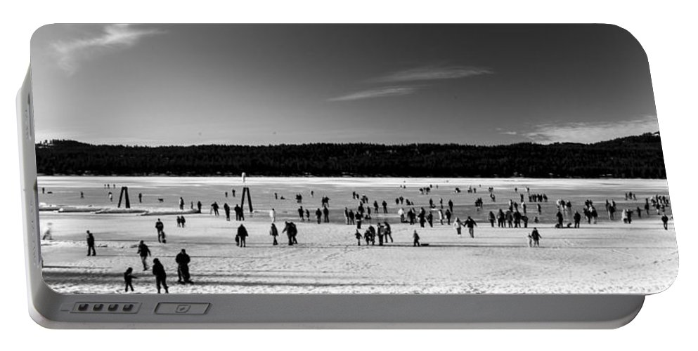 Mccall Portable Battery Charger featuring the photograph Lake Fun by Angus Hooper Iii