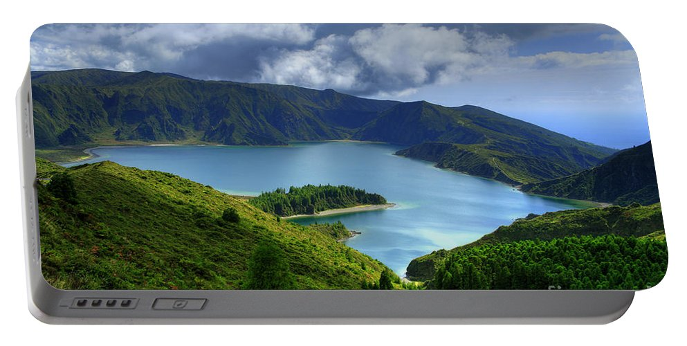 Azores Portable Battery Charger featuring the photograph Lake in the Azores by Gaspar Avila