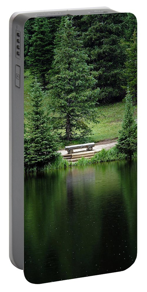 Lake Irene Portable Battery Charger featuring the photograph Lake Irene Dressed In Green by Robert Meyers-Lussier