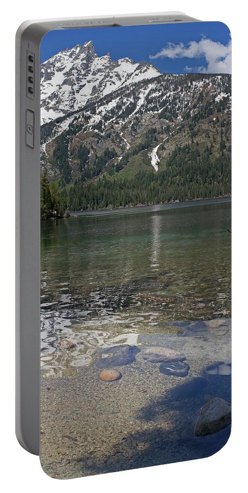 Grand Tetons Portable Battery Charger featuring the photograph Lake Jenny Grand Tetons by Heather Coen