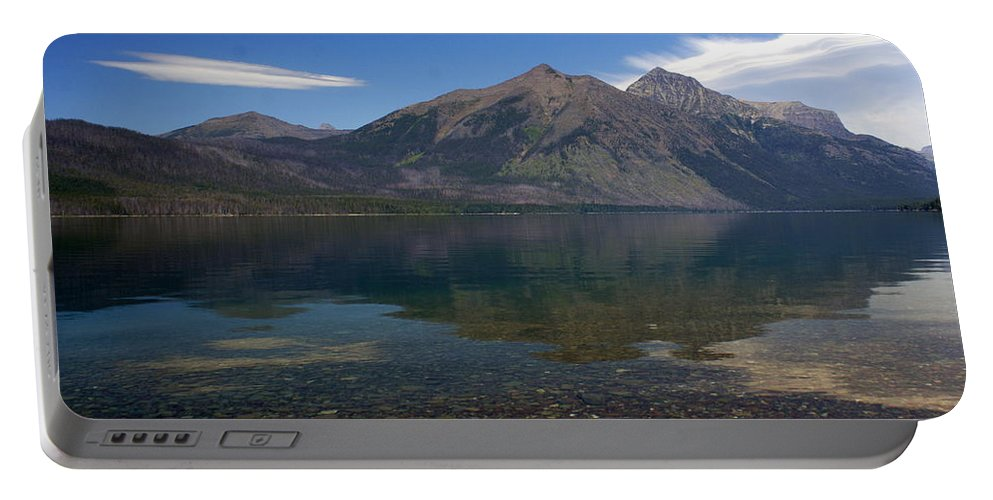 Landscape Portable Battery Charger featuring the photograph Lake Mcdonald Reflection Glacier National Park 2 by Marty Koch
