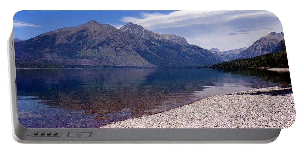 Glacier National Park Portable Battery Charger featuring the photograph Lake Mcdonald Reflection Glacier National Park 4 by Marty Koch
