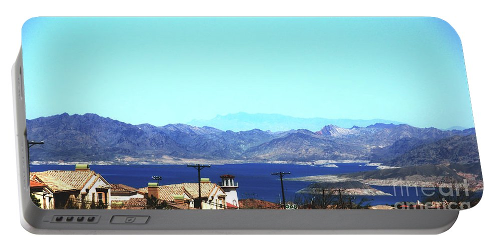 Lake Portable Battery Charger featuring the photograph Lake Mead Las Vegas by Susanne Van Hulst