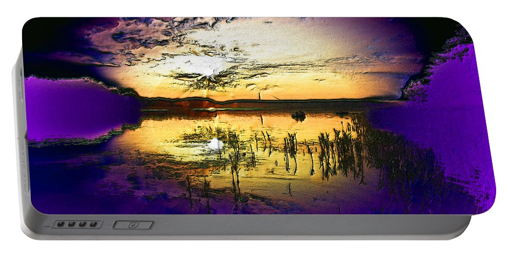 Soul Portable Battery Charger featuring the digital art Lake Of The Sleeping Souls by Max Steinwald
