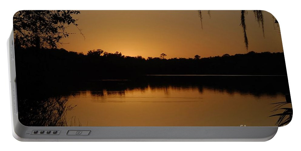 Lake Portable Battery Charger featuring the photograph Lake Reflections by David Lee Thompson