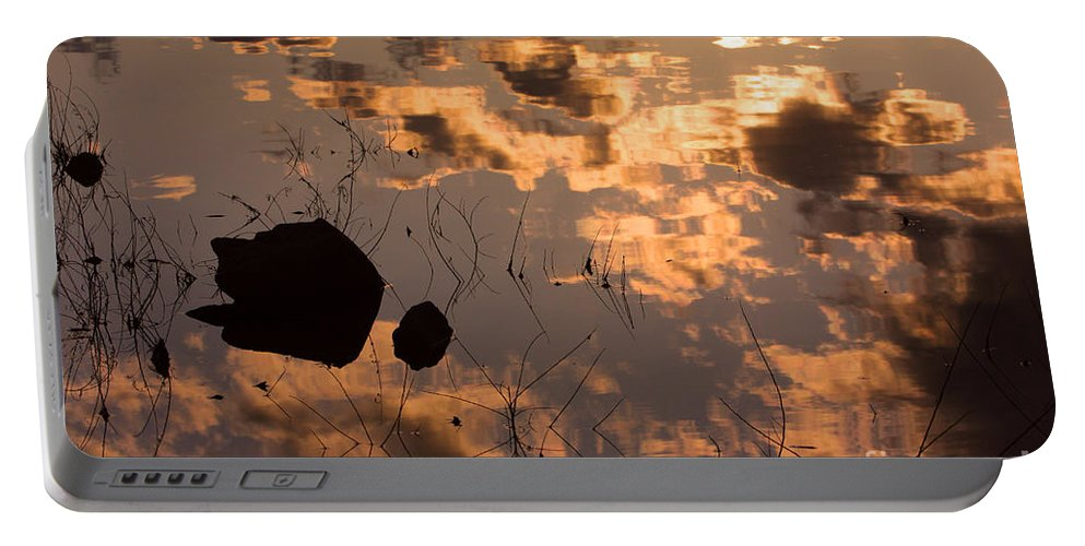 Sunrise Portable Battery Charger featuring the photograph Lake Sunset Reflections by James BO Insogna
