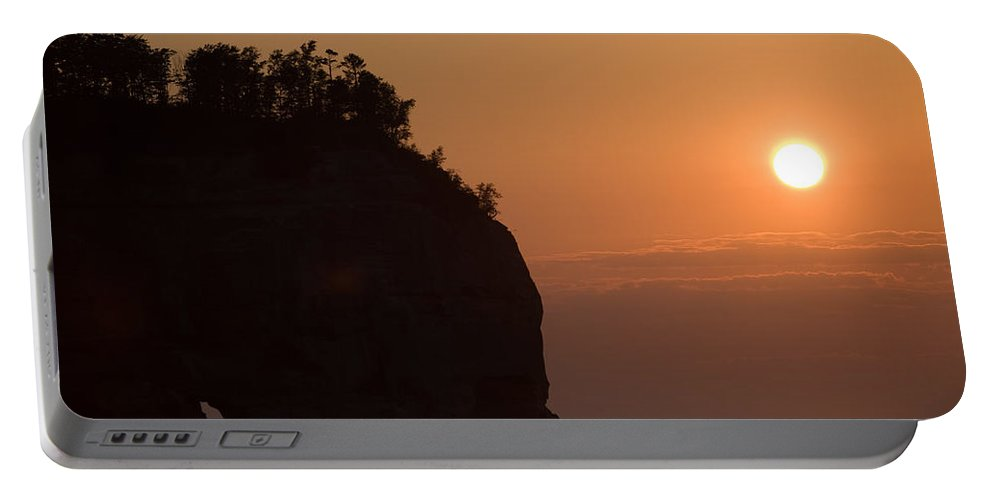 Lake Portable Battery Charger featuring the photograph Lake Superior Sunset by Sebastian Musial