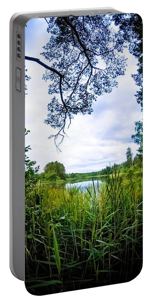 Nature Portable Battery Charger featuring the photograph Lake View by Nicklas Gustafsson