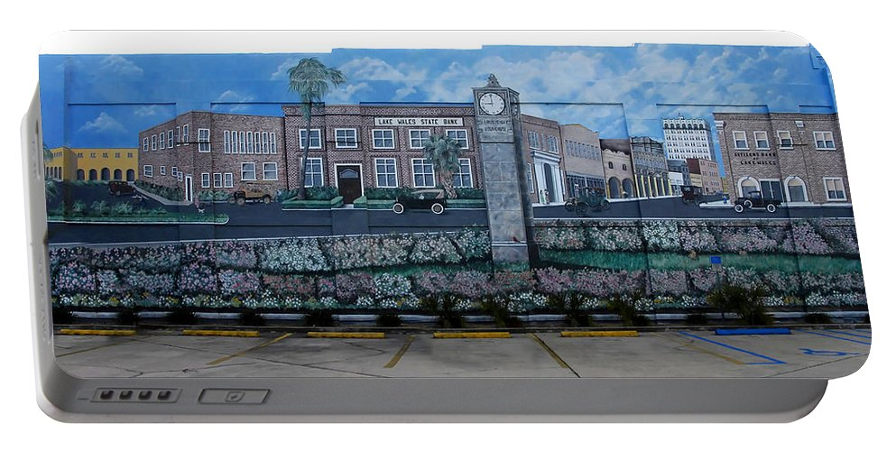 Photography Portable Battery Charger featuring the photograph Lake Wales Florida Mural by David Lee Thompson