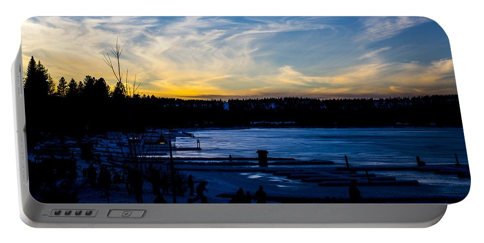 Mccall Portable Battery Charger featuring the photograph Lakeshore Nights by Angus Hooper Iii