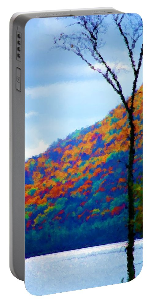 Digital Photograph Portable Battery Charger featuring the photograph Lakeside by David Lane