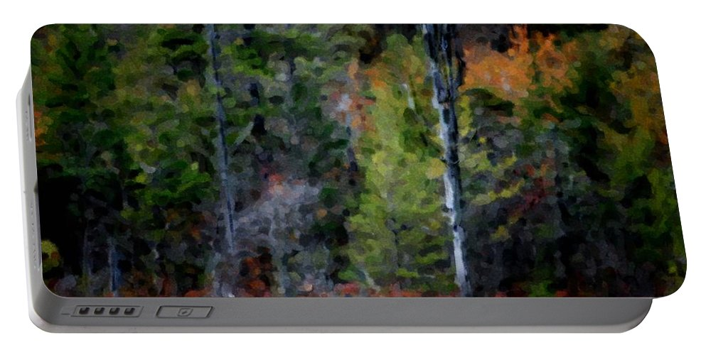 Digital Photograph Portable Battery Charger featuring the photograph Lakeside In The Autumn by David Lane