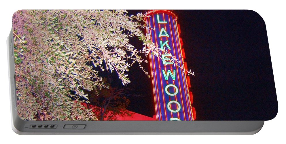 Theater Portable Battery Charger featuring the photograph Lakewood Theater by Debbi Granruth