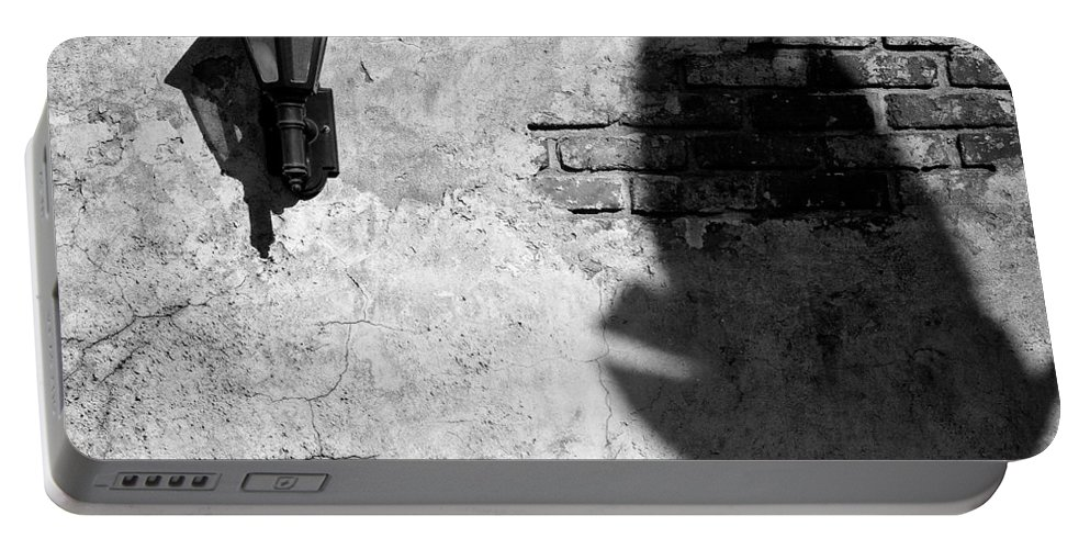 Lamp Portable Battery Charger featuring the photograph Lamp And Leaf by Dave Bowman