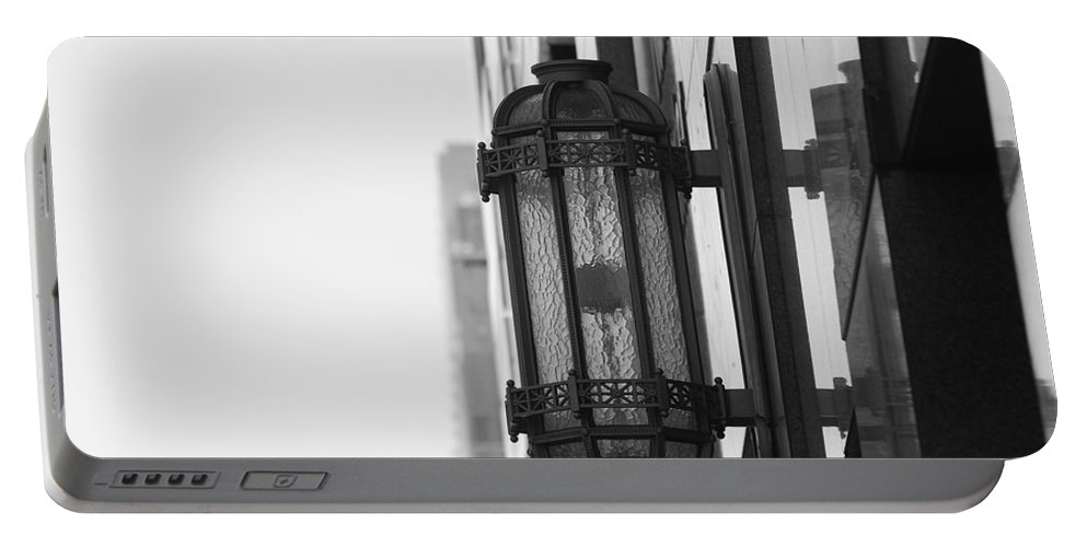 Architecture Portable Battery Charger featuring the photograph Lamp On The Wall by Rob Hans