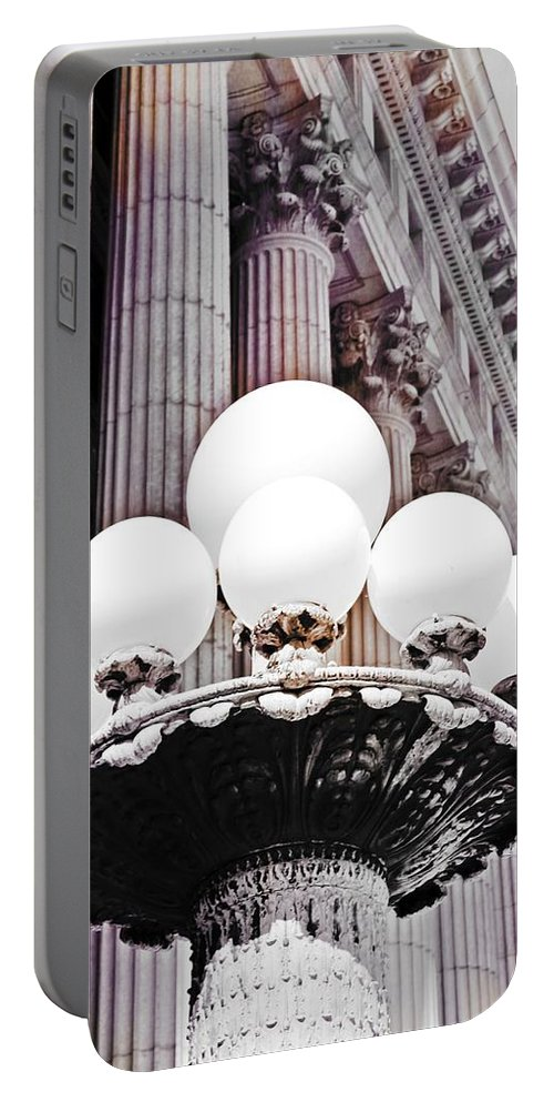 Lamp Post Portable Battery Charger featuring the photograph Lamp Post by Mary Pille