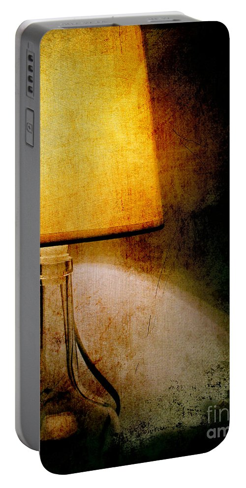 Ambience Portable Battery Charger featuring the photograph Lamp by Silvia Ganora