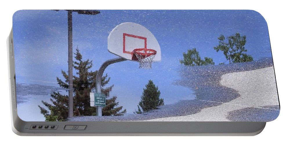 Lamppost Portable Battery Charger featuring the photograph Lamppost 022 - Rainy Day Reflection by Jor Cop Images