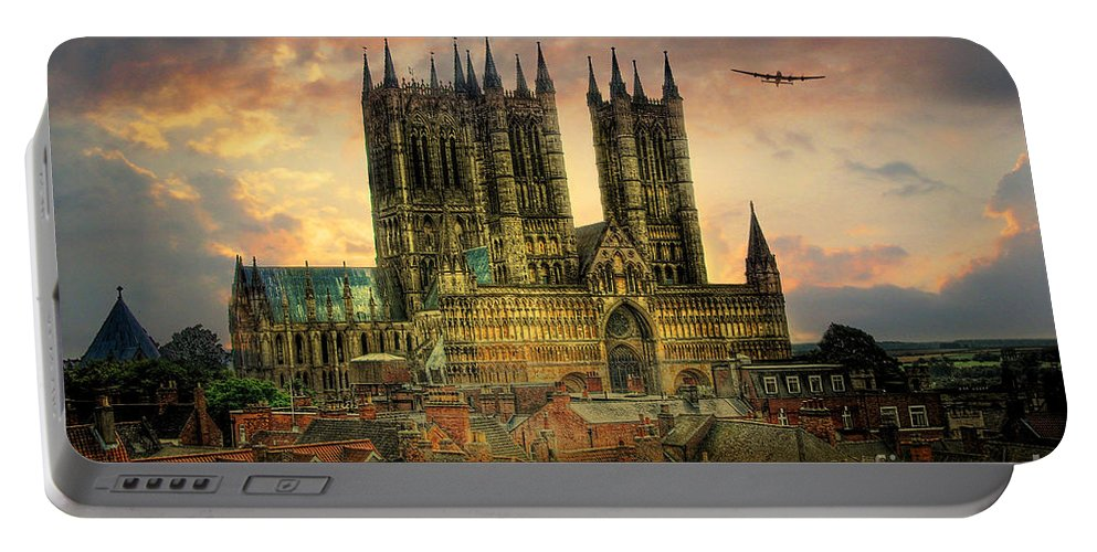 Raf Lancaster Bombers Portable Battery Charger featuring the digital art Lancaster Bombers Tour by J Biggadike