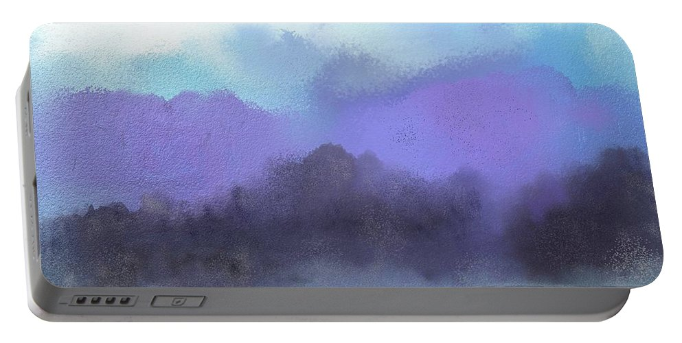 Digital Painting Portable Battery Charger featuring the digital art Landscape 02-19-10 by David Lane