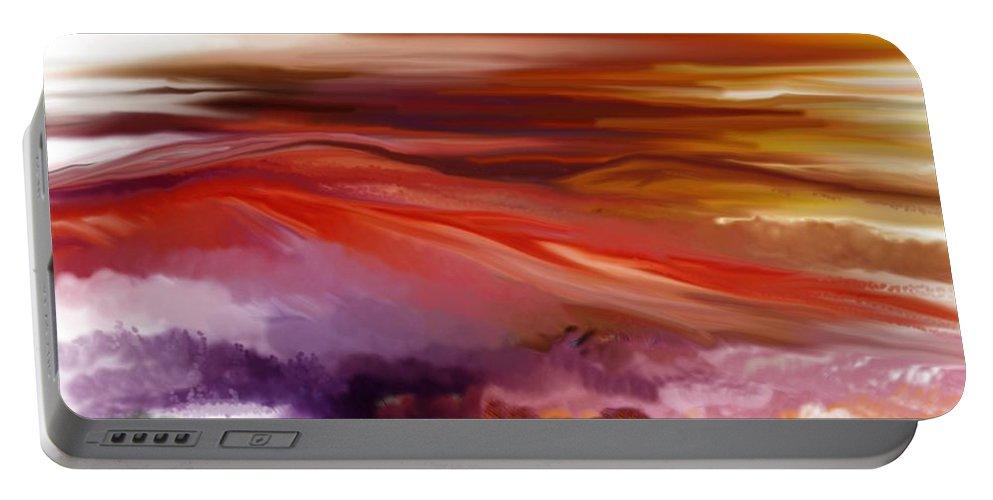 Landscape Portable Battery Charger featuring the digital art Landscape 022511 by David Lane