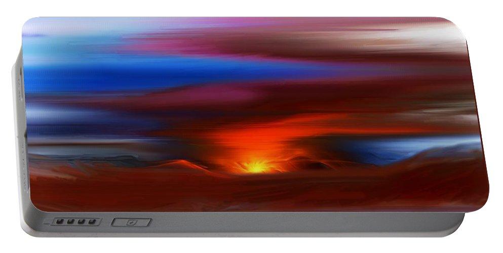 Landscape Portable Battery Charger featuring the digital art Landscape 081010 by David Lane