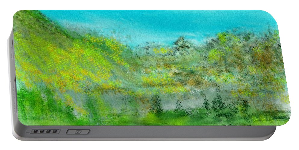 Landscape Portable Battery Charger featuring the digital art Landscape 101510 by David Lane