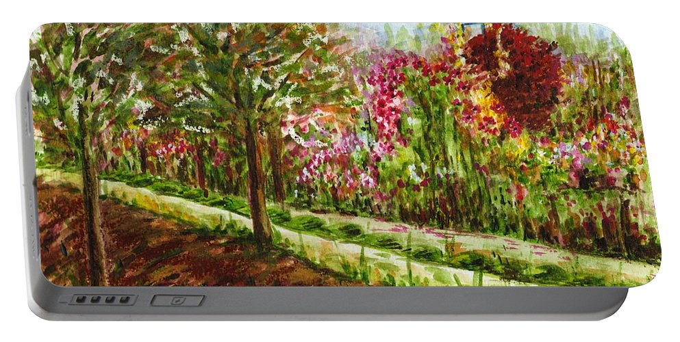 Landscape Portable Battery Charger featuring the painting Landscape 2 by Harsh Malik