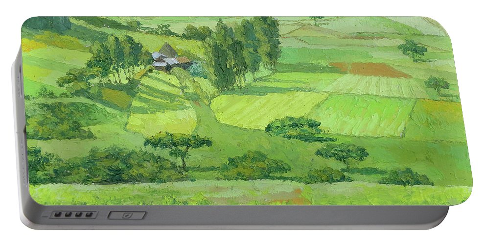 Landscape Portable Battery Charger featuring the painting Landscape 3 by Yoseph Abate