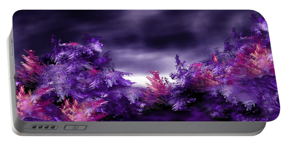 Abstract Digital Painting Portable Battery Charger featuring the digital art Landscape 9-26-09 by David Lane