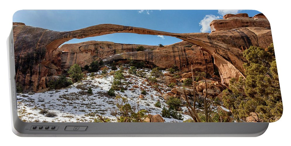 Landscape Arch Arches National Park Moab Utah Portable Battery Charger featuring the photograph Landscape Arch - Arches National Park Moab Utah by Brian Harig