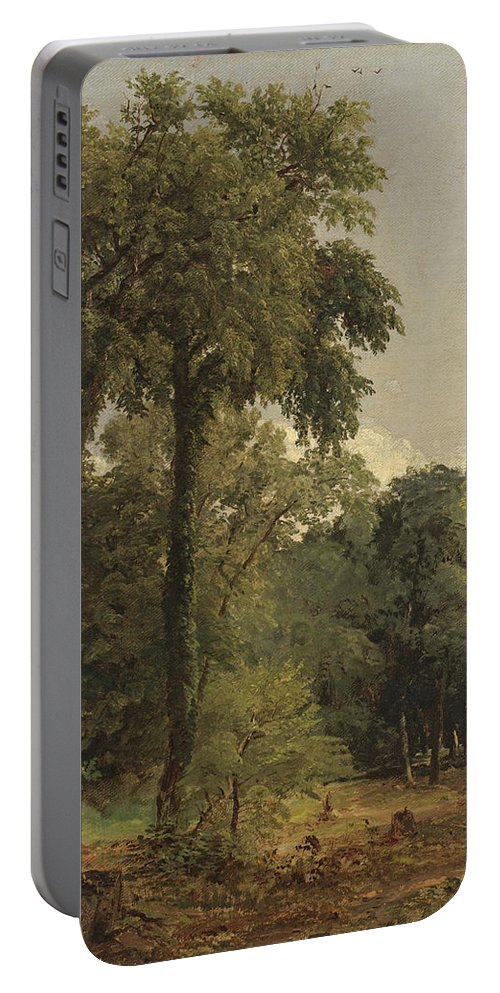 Jasper Francis Cropsey Portable Battery Charger featuring the painting Landscape by Jasper Francis Cropsey