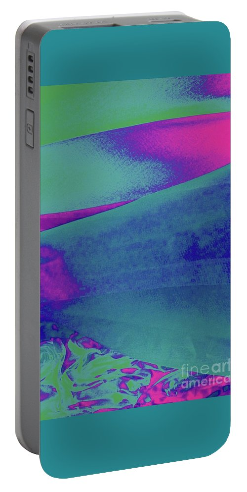 Hills Portable Battery Charger featuring the photograph Silken Landscape No.1 by Sara Adams