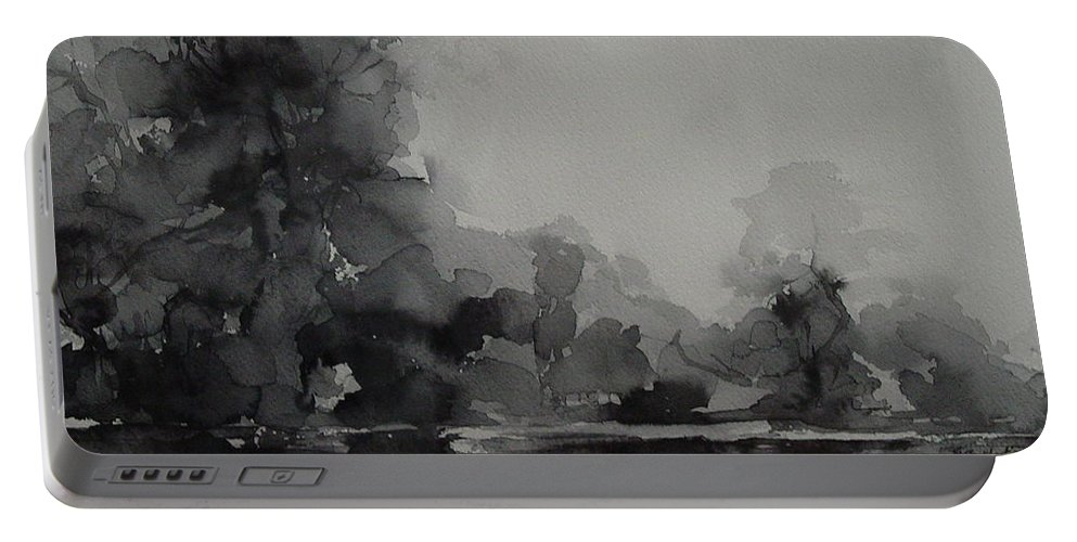 Value Portable Battery Charger featuring the painting Landscape Value Study by Robin Miller-Bookhout