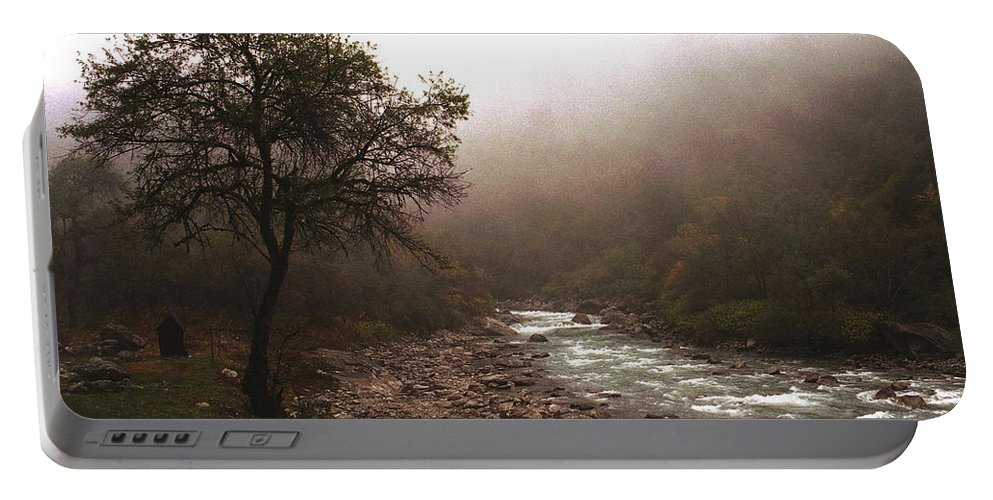 Tree Portable Battery Charger featuring the photograph Langtang Morning by Patrick Klauss