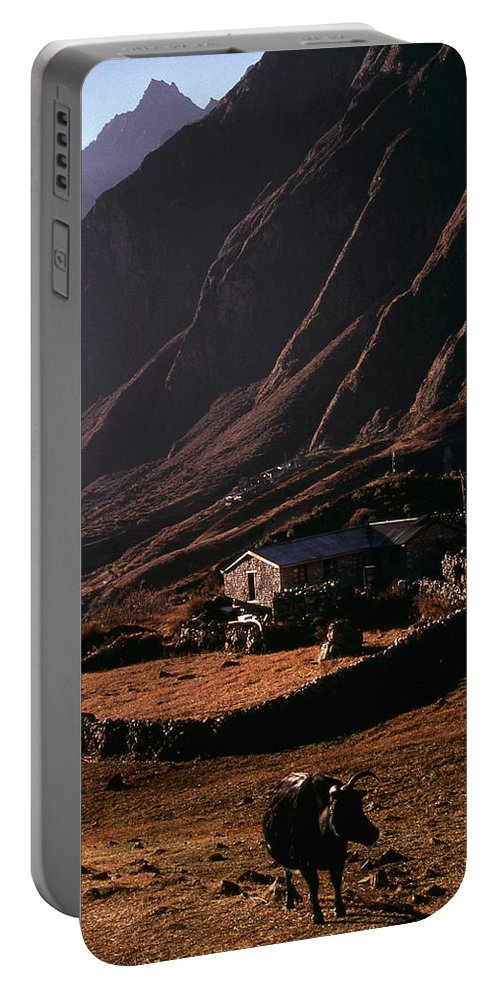 Langtang Portable Battery Charger featuring the photograph Langtang Village by Patrick Klauss