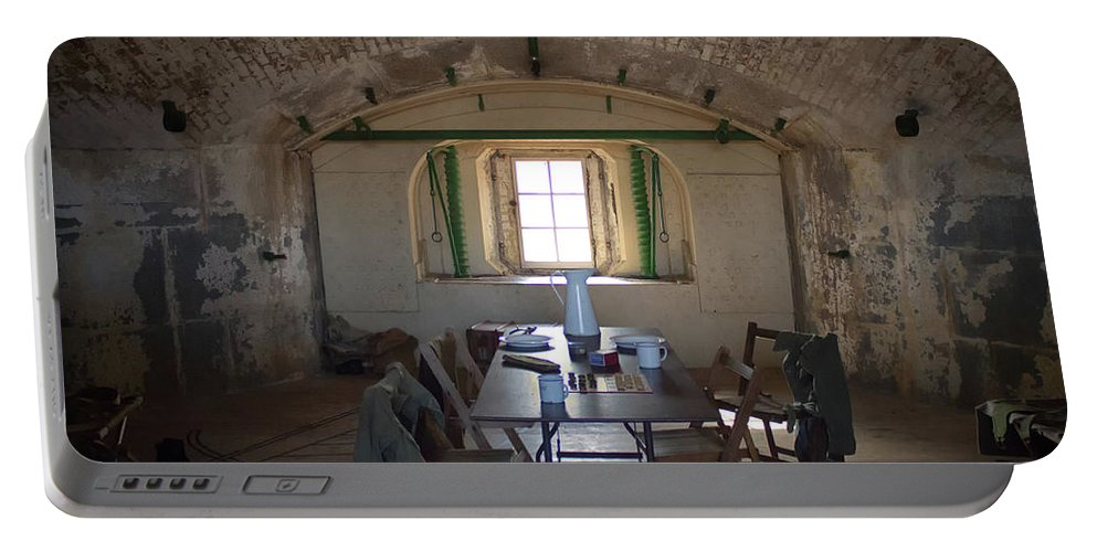 Fort Portable Battery Charger featuring the photograph Languard Fort by Martin Newman